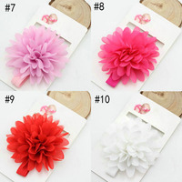 Baby headband 8cm gorgeous chiffon flower headband newborn infant toddler girl hair accessories