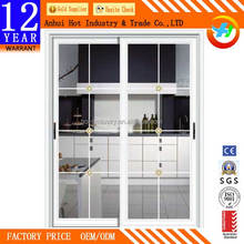 Kitchen Windproof Sliding Aluminum Alloy Door Toughened Glass More Safe Aluminum Door Fashion Interior Aluminum Alloy Door