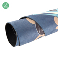 Round Yoga mat 100% natural rubber washable non-toxic manufacturer