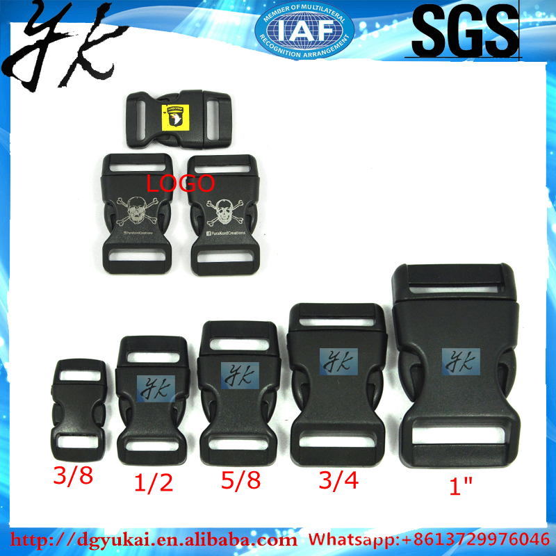 Custom buckle for bag strap webbing,plastic release buckle clasp insert buckle