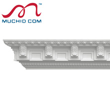 Classic Decorative PU carved foam cornice moulding Factory cost PU Foam Carved Carving Cornices Mouldings