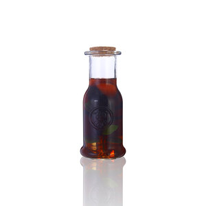 360ml embossed empty glass milk soft drink fruit juice bottle