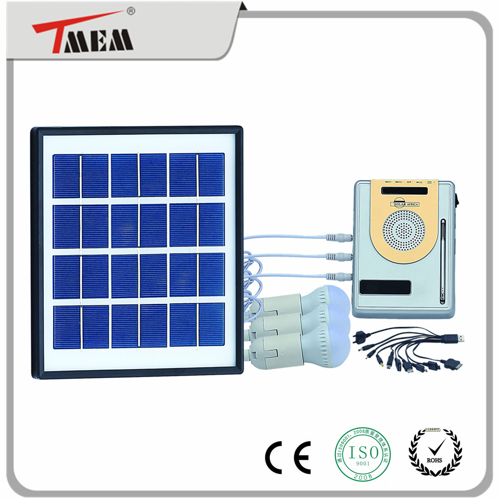 4w solar radio with MP3 system AM FM type solar system for home used solar panel light