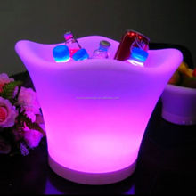 Acrylic Circular Wine Led Ice Bucket Table Party Cooler China Factory