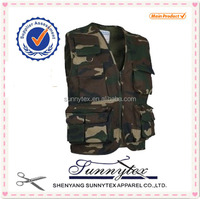 OEM design Hot Sale Hunting Clothing Vest multi pocket fishing vest