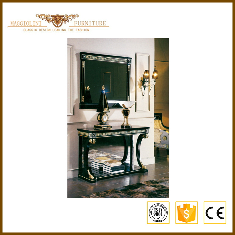 China wholesale products best quality black mirror console table