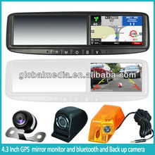 4.3inch rear view mirror with gps and bluetooth CM-043RA