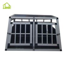High Quality aluminum dog cage with two door car pet cage