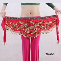 Velvet Triangle hip scarf gold coins velvet belly dance belt