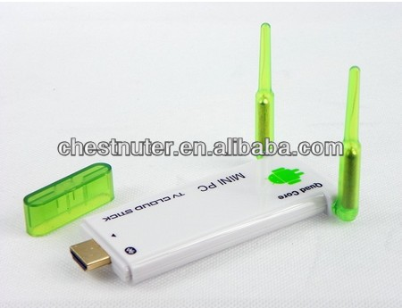 China factory rk3188 quad core hdmi tv dongle double antennas cloud tv box MK909 J22 HDD game player