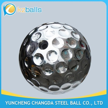 garden polished stainless steel golf ball Sculpture