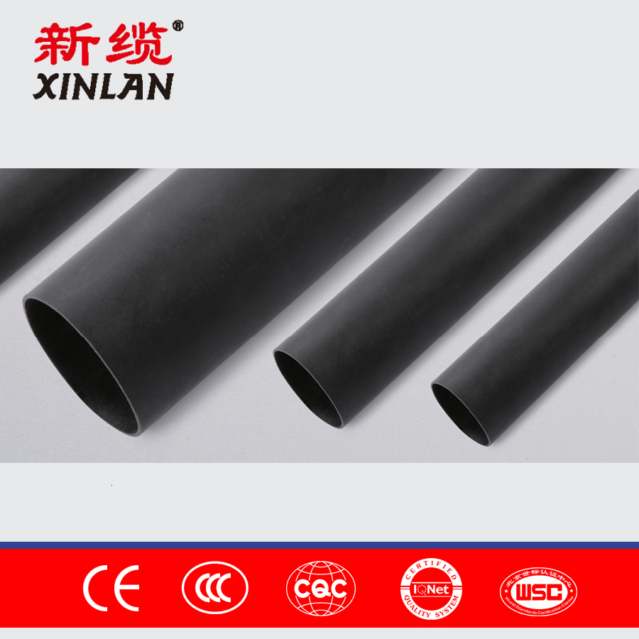 XL-7 High Quality PE Bleak Compound Double Wall Heat Shrink Tubing Wall Pipe heatshrinkable tube