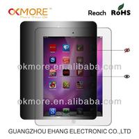 Hot sell anti-static anti-spy screen protector for ipad