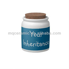 Ceramic jar with wooden lid