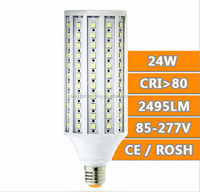 3 years warranty high quality warehouse 24W SMD 360 degree E40 led corn light,LED corn lamp