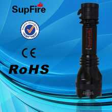 SupFire Y8 cree q5 led rechargeable flashlights for diving and waterproof torch