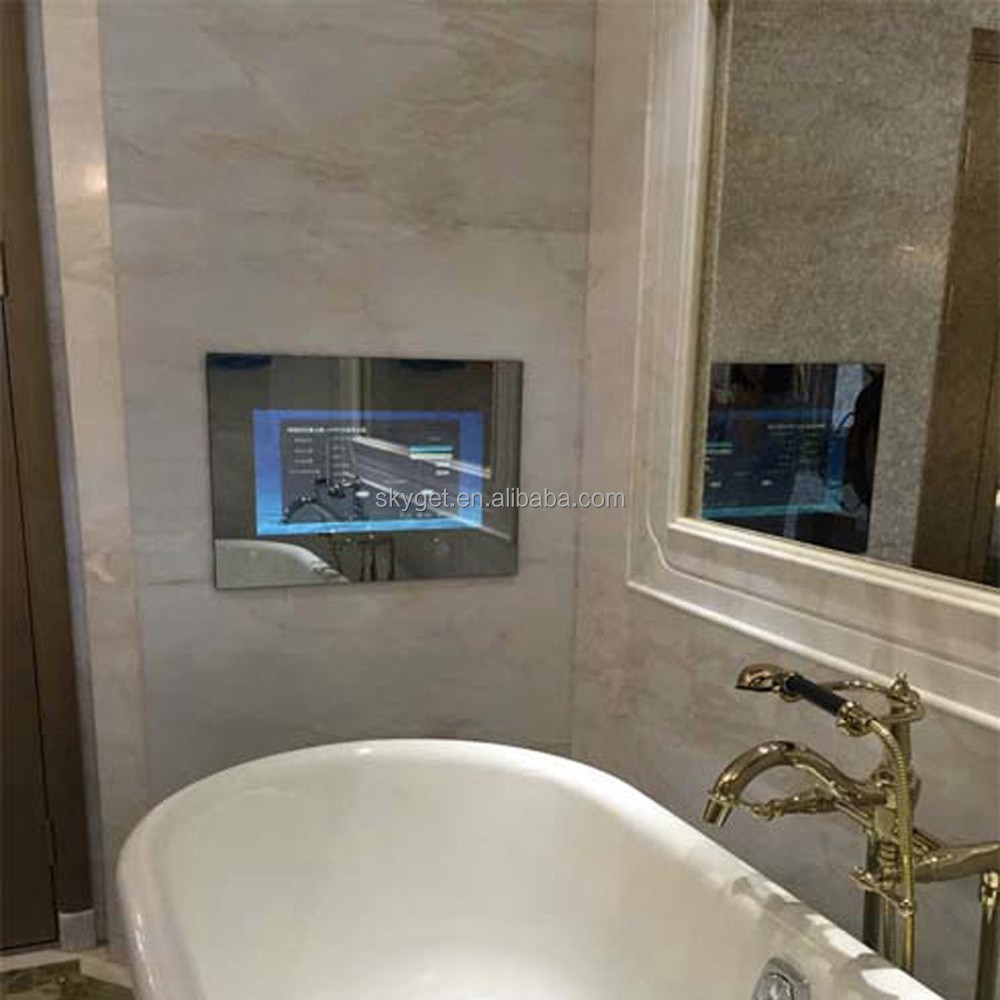 32 inch waterproof IP66 wall mount bathroom tv mirror