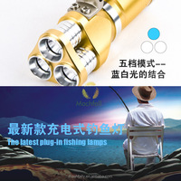 2015 New Style Best Portable Fishing Flashlight Rechargeable Led Fishing Light
