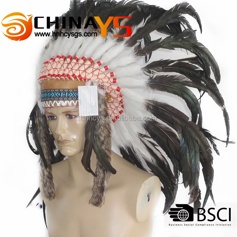Leading supplier Wholesale Feather headdress Indian Hot selling On promotion YS 5491