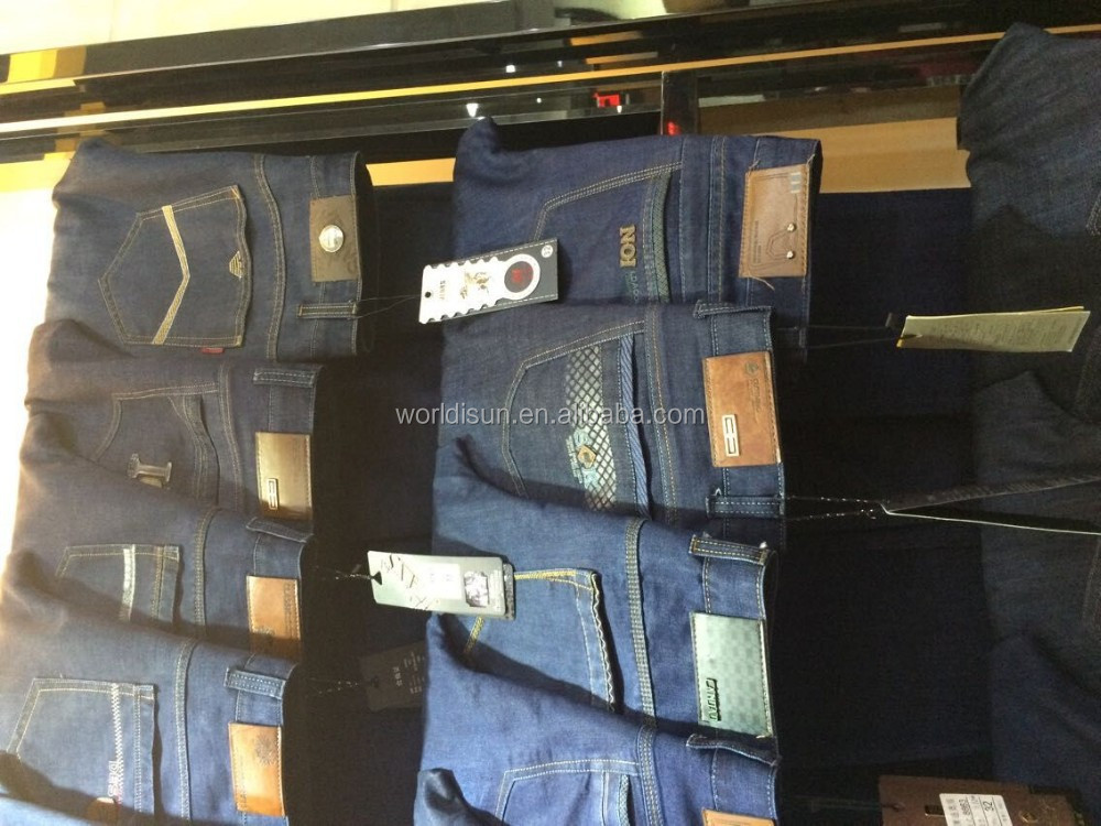 large quantity of men's stock jeans