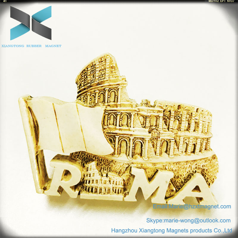 3D Italy The Roma Colosseum Souvenirs Fridge Magnet resin Customization Magnet
