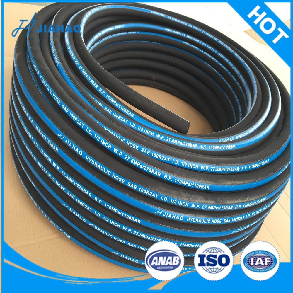 Sae 100 R2at / En 853 2sn Two Wire Braid High Pressure Rubber Hose ...