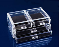Cosmetic Organizer Box Case 4 Drawer Cases Holder Make Up Storager Ideal Makeup Storages