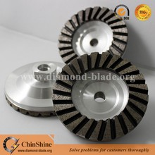 100mm turbo diamond grinding cup wheel for stone polishing