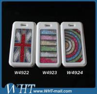 Shiny Luxury Bling Bling Style Crystal Case For iPhone 5, For iPhone5 Leather Case Stand Cover Supplier