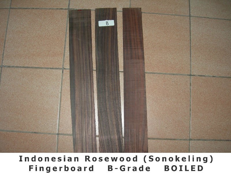 Indonesian Rosewood (Sonokeling) Fingerboard - Dark Color (B GRADE)