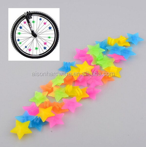 Bicycle Spoke bike clip Beads Multi Color Spinners Kids Bike Play Riding wheel