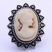 Fashion Jewelry beautiful girl portrait Metal Button