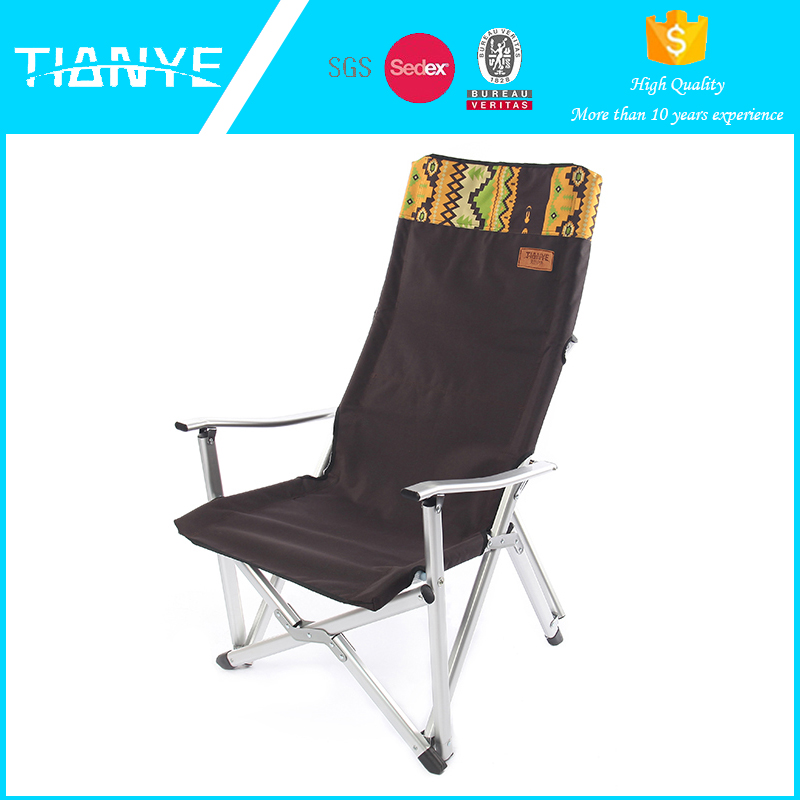 fishing hiking director beach adult folding high chair with arms