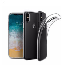 Hot New 2017 Products For iPhone 8 Case, Ultra Thin Clear Crystal Transparent TPU Case Cover For iPhone x