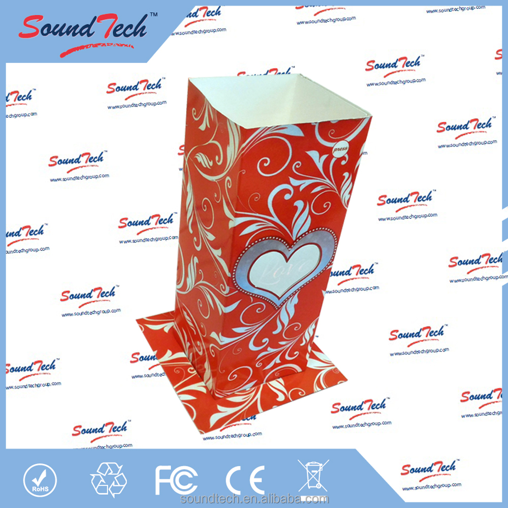 Heart Love light up vase, decorative vase light, Paper Vase