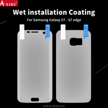 Nanoedge film whole screen cover clear 3D front back wet screen guard for Samsung S8 S7 edge tpu film