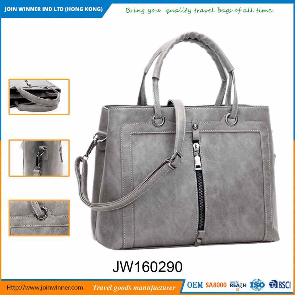 Low Price PU Woman Leather Handbag with Best Quality and Low Price