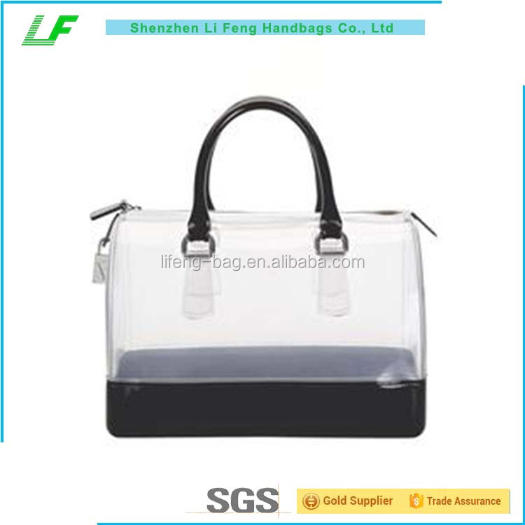 Large Capacity women tote bag, custom pvc women handbag