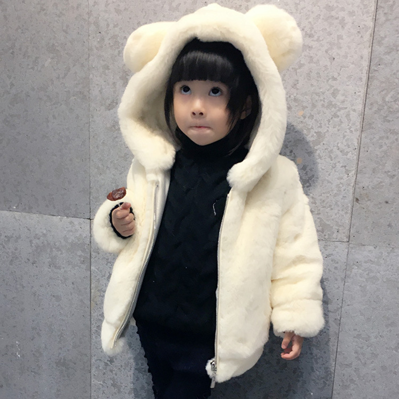 Children Coats Winter Clothing Children Faux Fur Coats