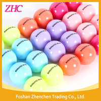 Wholesale Promotional Cute Waterproof Natural Organic Moisturizing Round Roller Ball Lip Balm