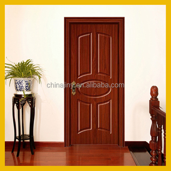 2017 new design sell well Iraq popular pvc sheet living room mdf door from Jiangshan city