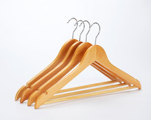 InspringLight Cherry Everyday Wood Hangers with Non-Slip Bar and Notches, Super Sturdy and Durable Wood