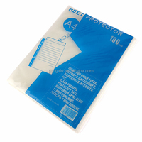 Factory Direct-sale PP 11 A4 Punched Pocket Sheet Protector, Clear Plastic Folder Sheet Protector, Waterproof Sheet Protector