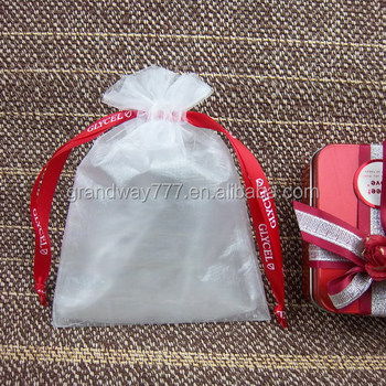 High Quality Gift Bags Customized Drawstring Organza Bag For Promotion Packing