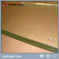 Clear ceramic fritted laminated glass