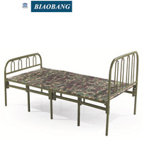 room furniture metal bed folded bed army green bed