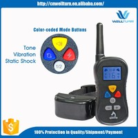 2016 Peted Trainer Collar Remote Controller Shocker Electric Vibrating Tone Dog Collar, Free Sample Collar For Dogs Bulk China