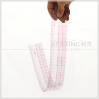 Factory direct sale wholesale Plastic Grading Ruler ( 24 inch & 60 cm ) with Protractor for Fashion Design Pattern Making