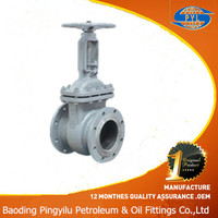High quality pn16 wegde wcb gate valve with GOST standard