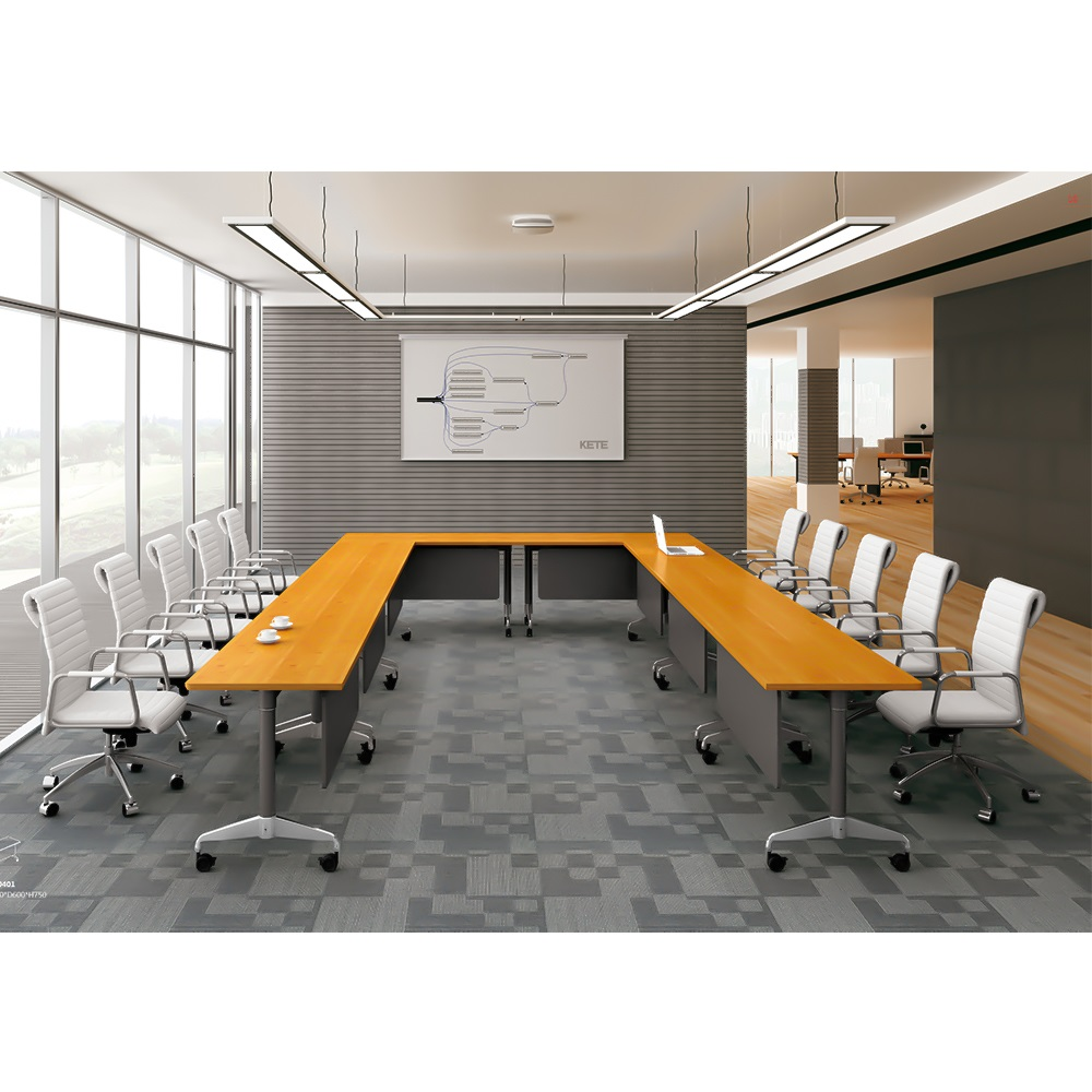 Unique Office Furniture U Shaped Conference Room Wooden Meeting